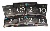 2009 - 2012 Count Down To The Olympics 4 x £5 coin Set